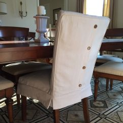 Guineys Dining Chair Covers Antique Slipper Uk Dropcloth Slipcovers For Leather Parsons Chairs