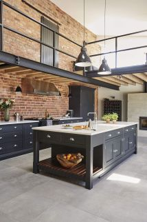 Industrial Style Shaker Kitchen Features Exposed