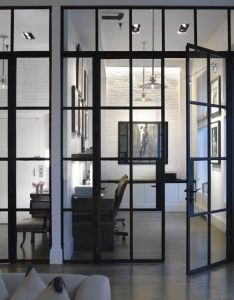 Office without window with sliding glas door also st ldorrar home  outdoor design pinterest doors industrial rh