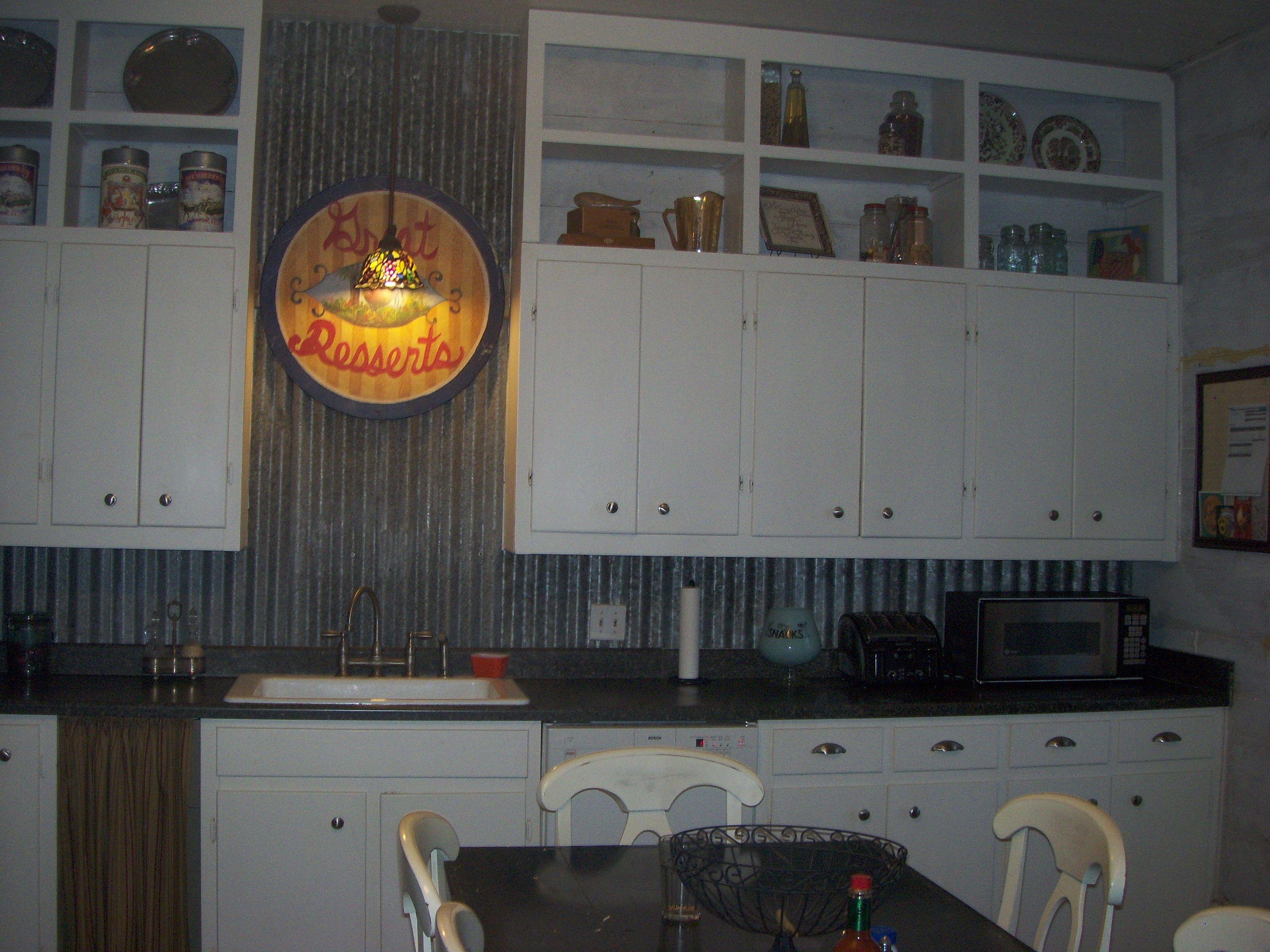 Old Barn Tin Backsplash For Kitchens