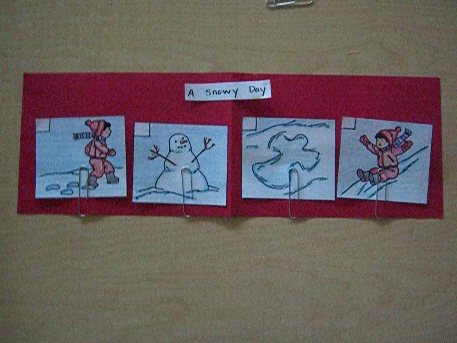 Sequencing A Snowy Day By Ezra Jack Keates