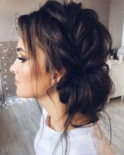 beautiful updo with side braid