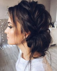 Beautiful updo with side braid wedding hairstyle for ...