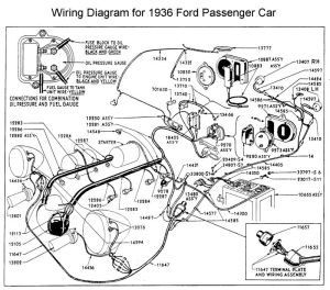 Wiring diagram for 1936 Ford | Wiring | Pinterest | Ford