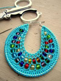 Crochet Hoops Tutorial, PDF Pattern, Jewelry Tutorial