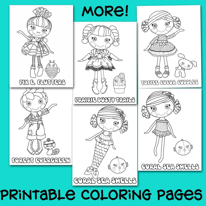 32 Printable Lalaloopsy Button Doll Coloring Pages Para Pintar