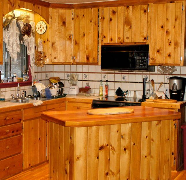 Knotty Pine cabinets we are doing in our cabin