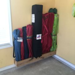 Folding Chair Rack Diy Painted Adirondack Chairs Ideas Garage Storage Systems Maximize Your Space Easy