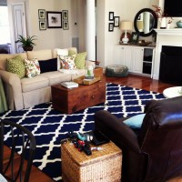 Navy Blue Living Room Rug