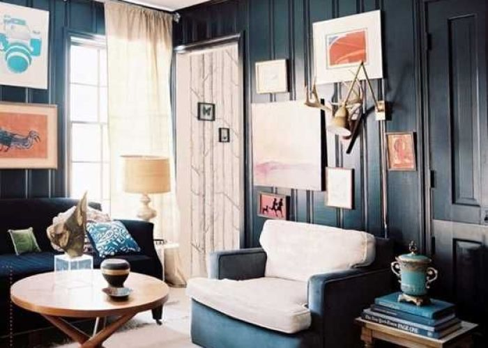 Black and blue colors for living room design also feng shui modern interior decorating ideas