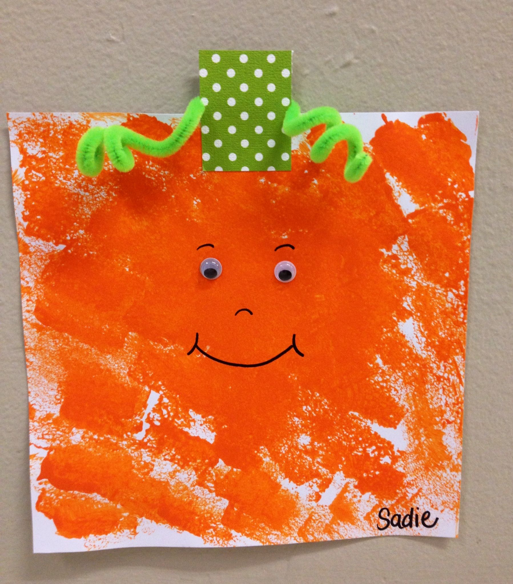 Spookley The Square Pumpkin Sponge Painting