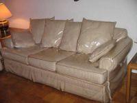 Plastic sofa covers. Its a PR thing...i think we had them ...