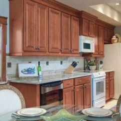 Waypoint Kitchen Cabinets Ikea Living Spaces Style 510 In Maple Auburn Glaze