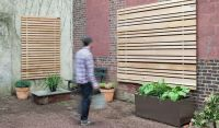 Exterior Wood Slat Wall