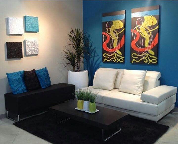 Moderna combinacin de colores para la sala Living room