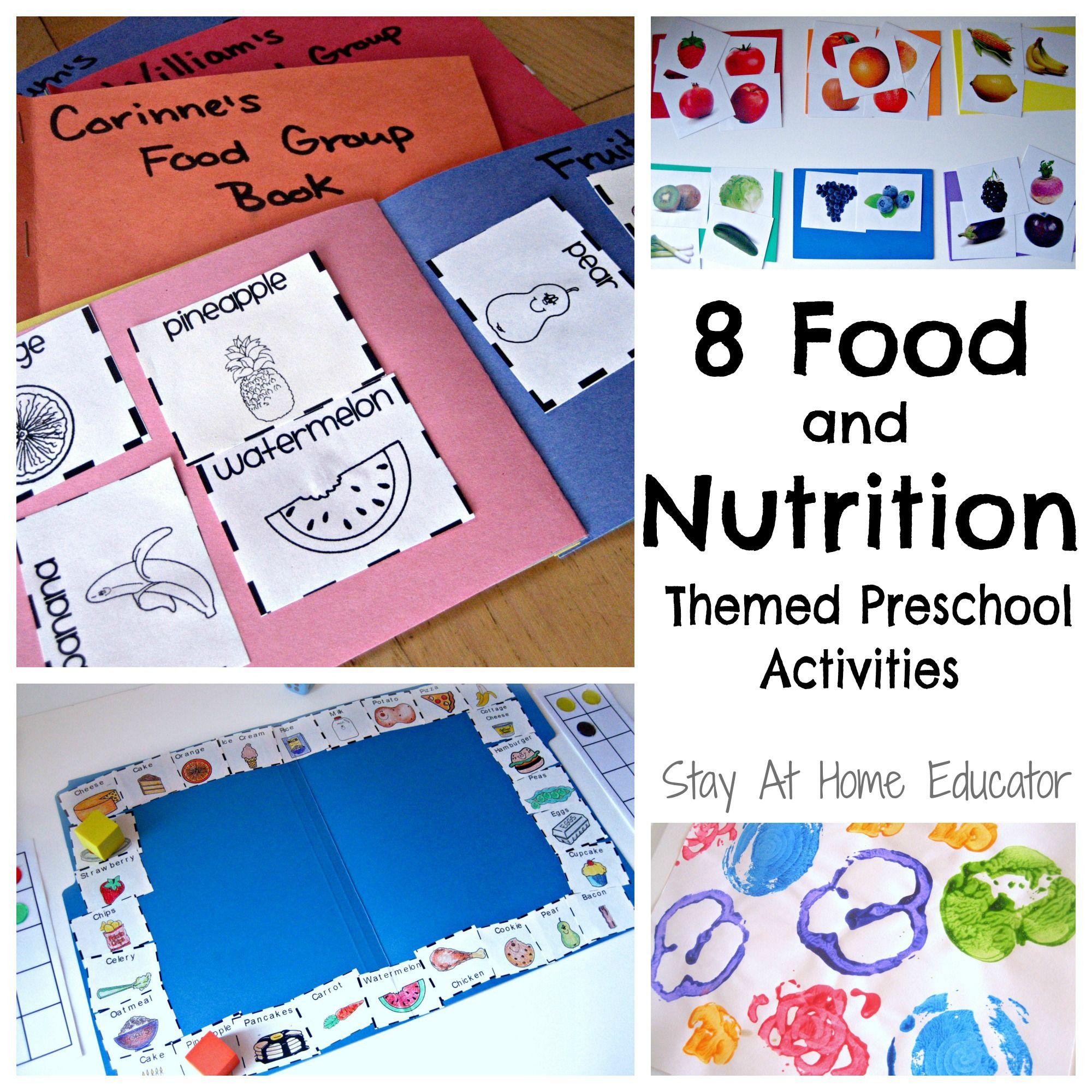 Preschool Nutrition Printables