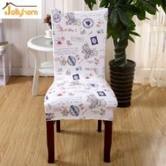 Dining Chair Covers Aliexpress Hanging The Warehouse Us 11 04 2pcs Printing Spandex Elastic Cover Machine Washable Restaurant For Weddings Banquet Hotel