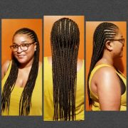 two layered feed in cornrows naturaledgez