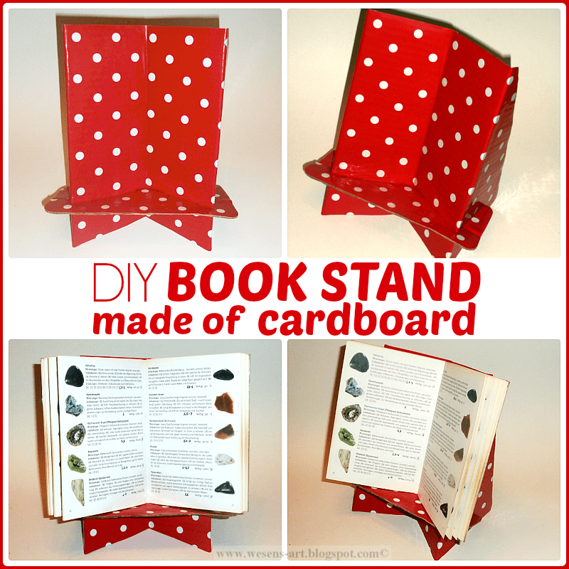 DIY Book Stand made of cardboard / Buchstnder