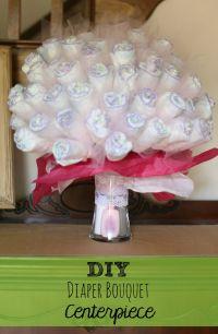 DIY Diaper Bouquet Centerpiece, perfect baby shower gift ...