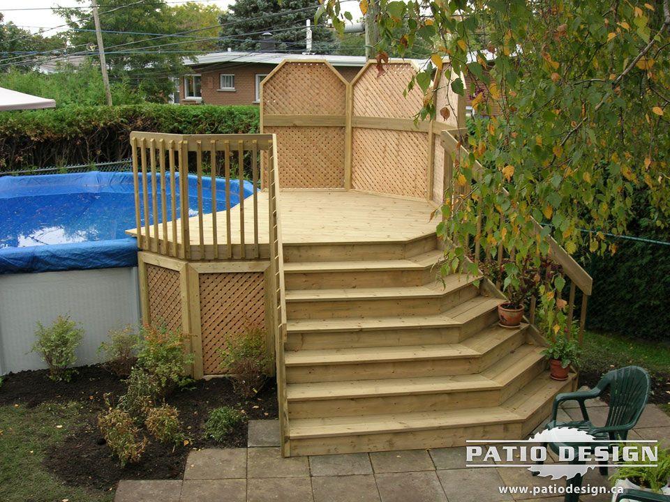 Patio design piscine hors terre recherche google for Club piscine circulaire