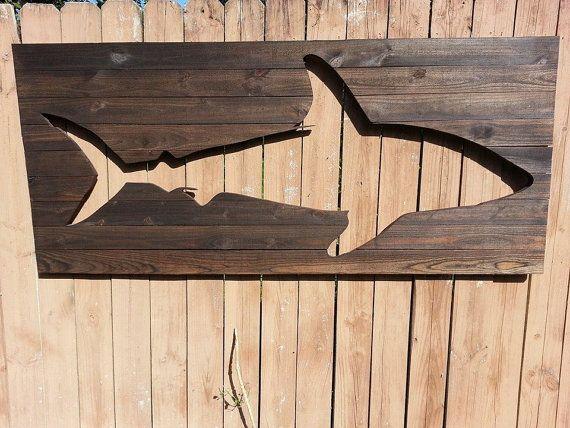 Pallet Shark Wood Wall Art by Peace Love Wood