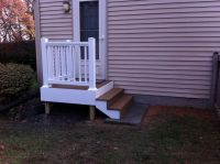 Back Door Steps with Landing | ... composite decking and ...