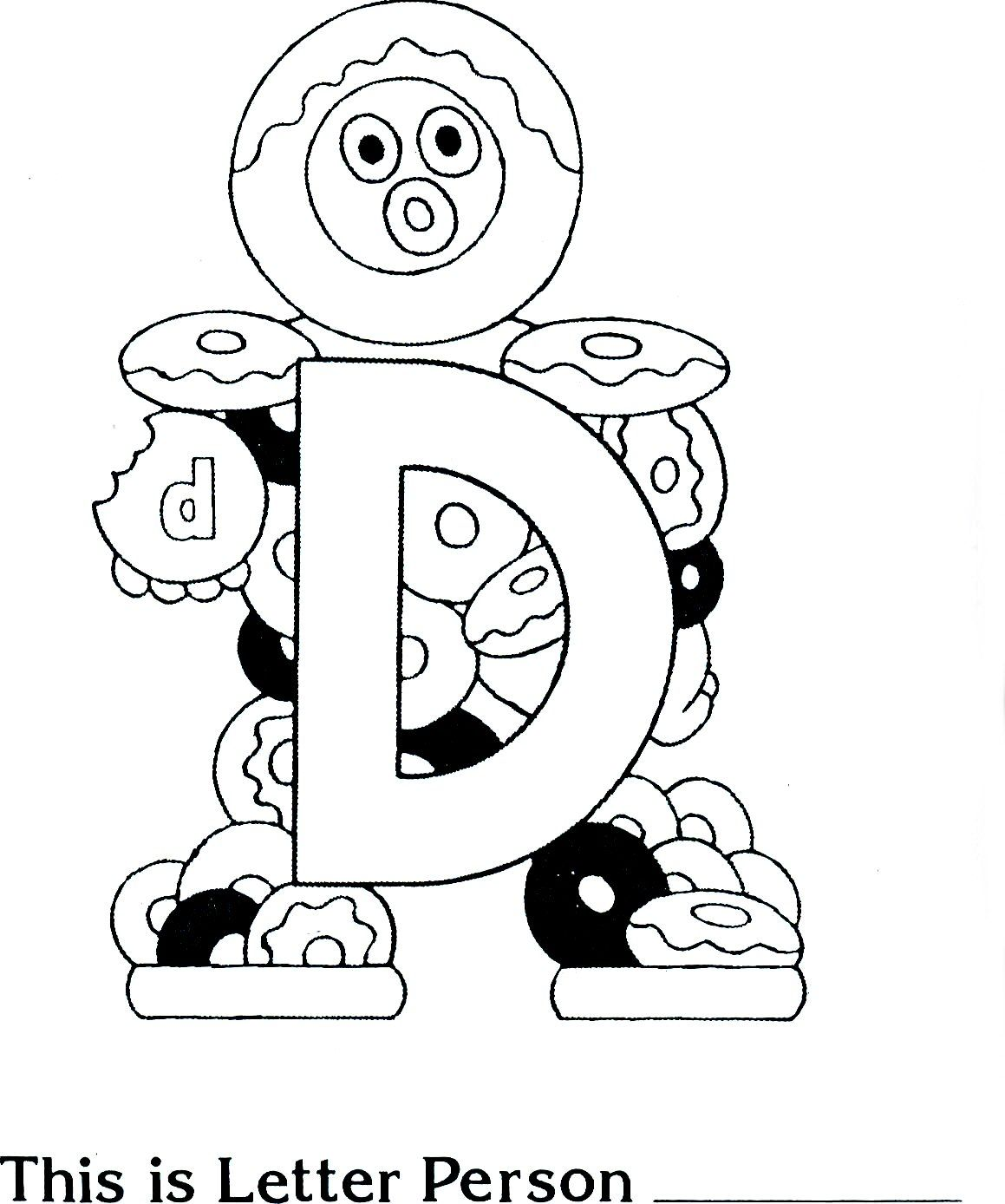 D Is For Doughnuts Preschool Coloring Sheet I Love These Letter People