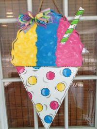 Snowball Door Hanger, Door Wreath, New Orleans, Sno-Ball ...