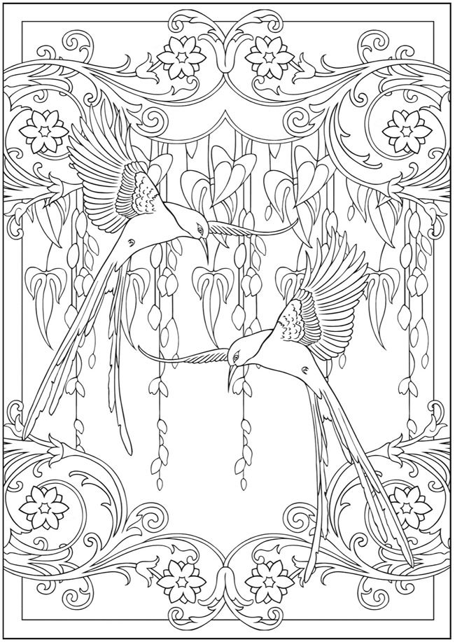Colibris Art Nouveau Beautiful book of designs. Someday
