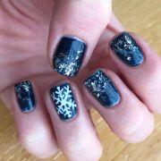 nail design. glitter nails. shellac