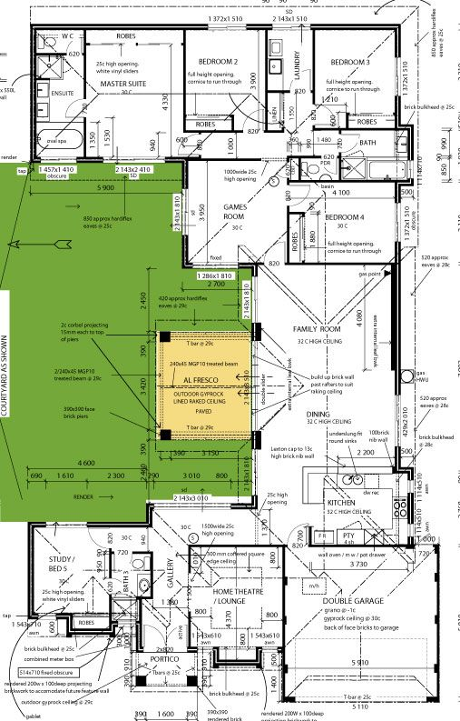house plans u shaped with courtyards
