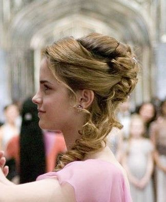 Hermione Yule Ball hairstyle side view  everything PROM