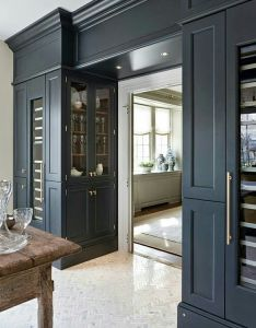 Like the idea of built in storage cabinets just inside doorway to this room space appeals wine enthusiast featuring two thermador also for enclosing plumbing kitchen home pinterest rh