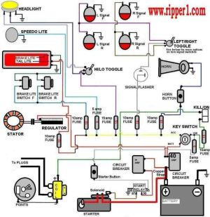 Wiring Diagram with Accessory and Ignition | Cafe Racer