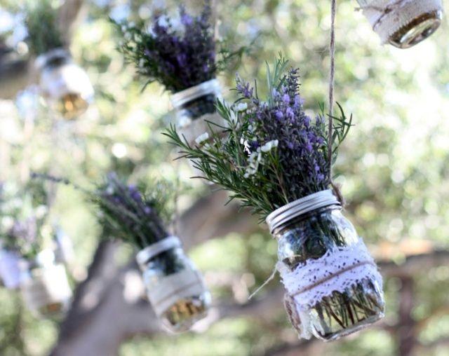 Einweckglser Deko Lavendel Spitze Garten  Green Oasis  Pinterest  Lavendel Spitze und Deko