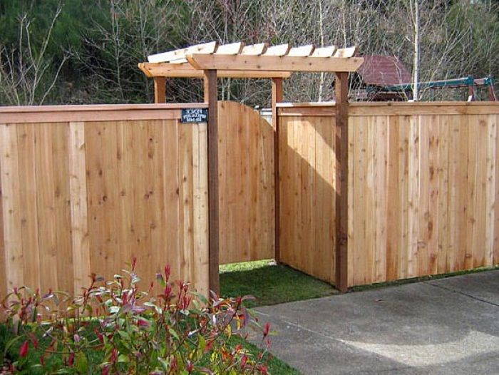Wooden Fence Gates Designs Custom Arched Good Neighbor Wood