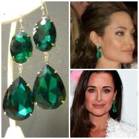 #Emerald #Earrings #Angelina #Jolie Kyle Richards by ...