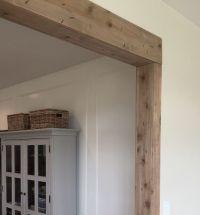 Faux Barn Wood Beam Doorway | Faux wood beams, Beams and Woods