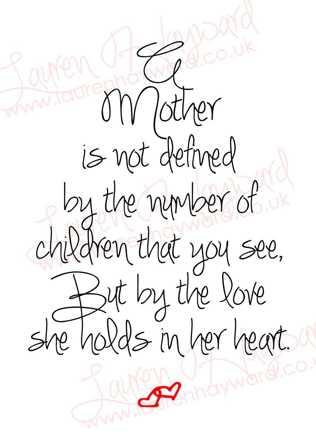 Baby Loss Mother's Day A4 Printable for those who have