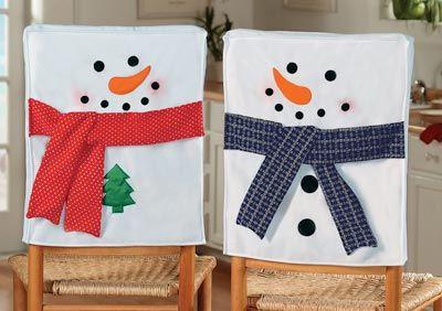 snowman snowman chair covers