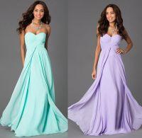2015 New Lilac And Mint Green Bridesmaid Dresses Chiffon ...