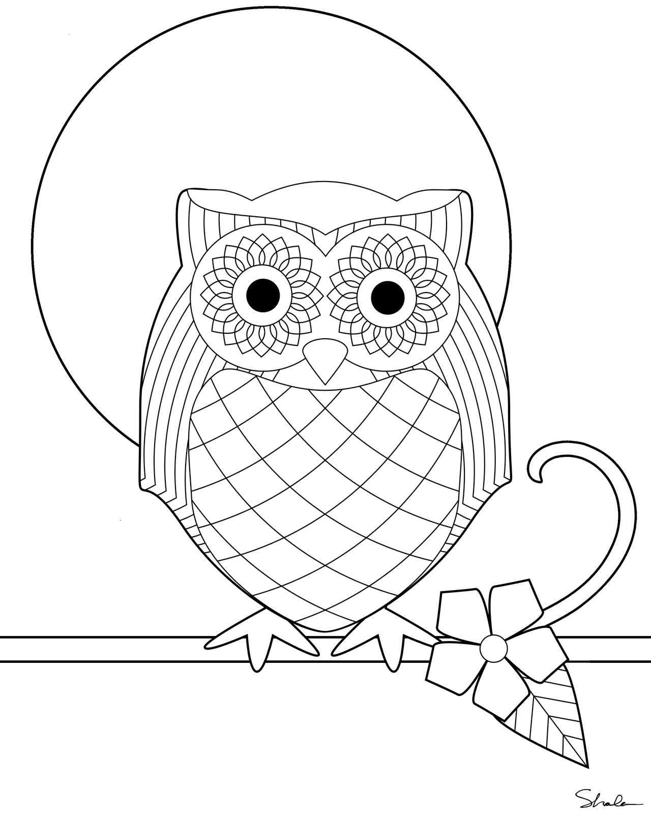 Awesome Owl To Print Out For The Kiddos To Color At A Origami Owl Jewelry Bar Where Children Are