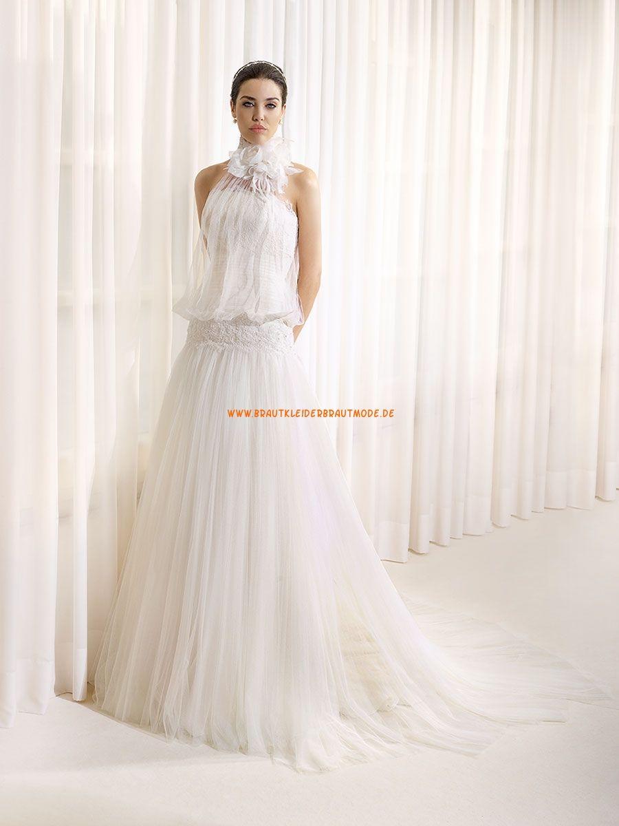 Außergewöhnliche Bodenlange Hochzeitskleider Aus Tüll Wedding