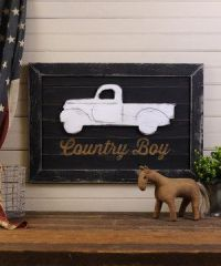 Slippin' Southern 'Country Boy' Truck Framed Wall Art ...