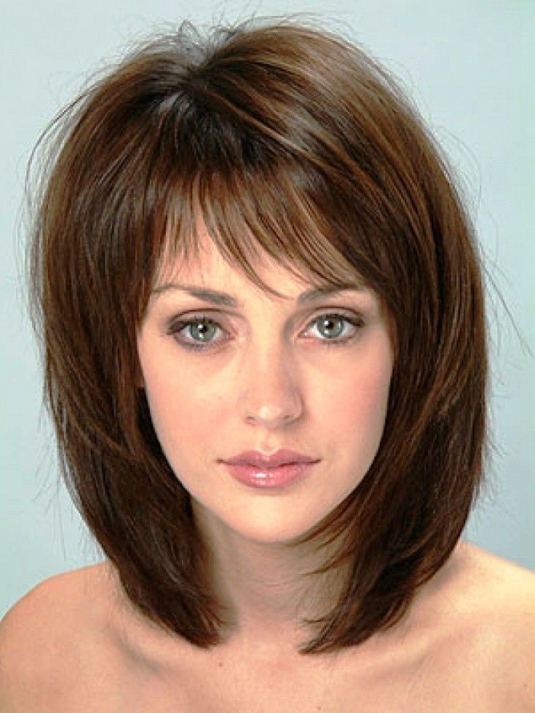20 Popular Medium Length Hairstyles With Bangs  Medium