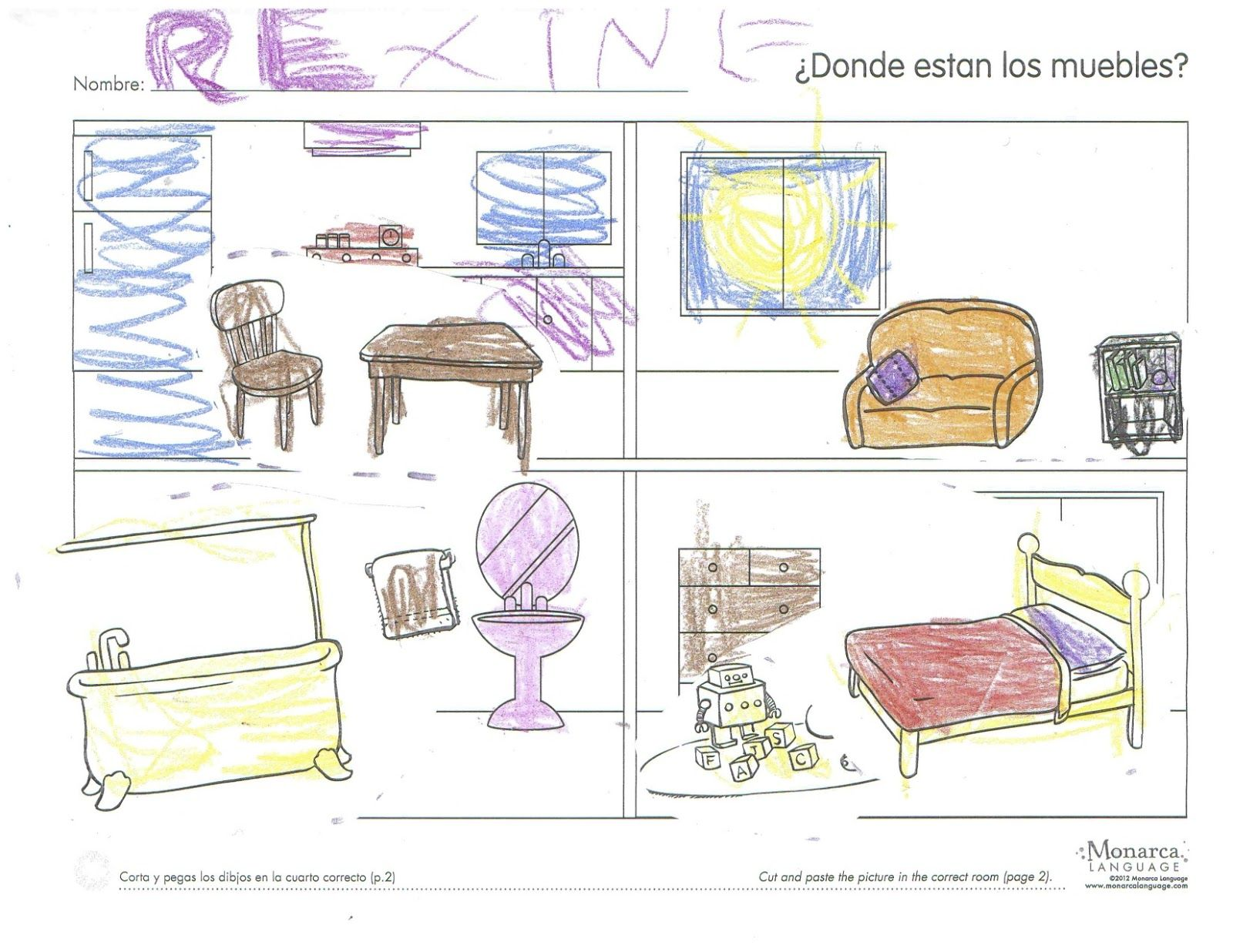 Teaching The Parts Of The House In Spanish Spanishsimply