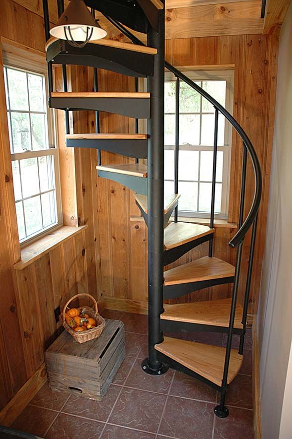 Tiny House Stairs Tiny Homes Large Living Pinterest Wood