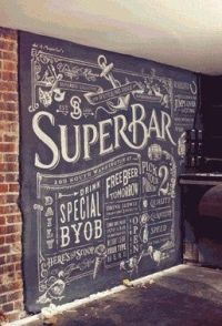 Typography inspiration | Art walls, Chalkboards and Kitchens