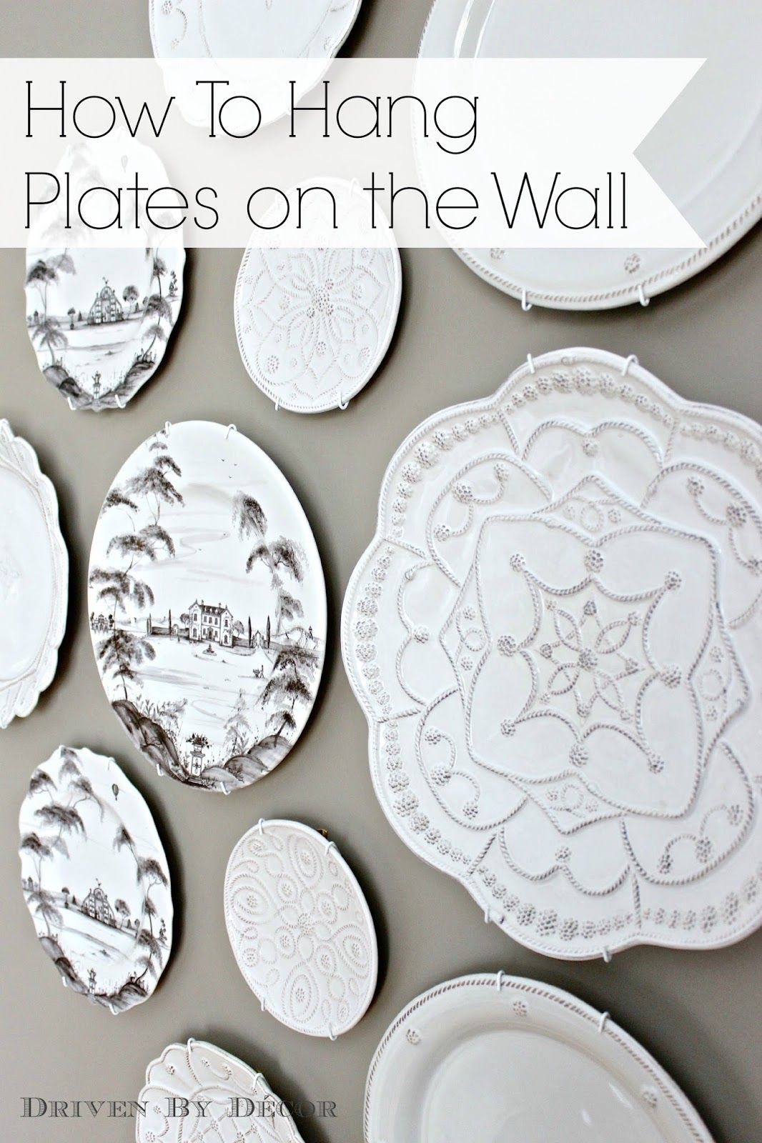 decorative kitchen plates for wall faux brick the easy how to hanging on plate